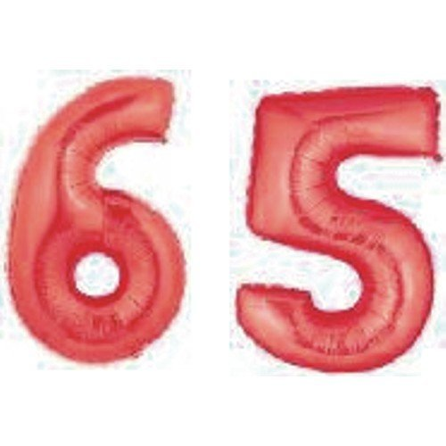 Grabo Giant 65th Red Number Balloons