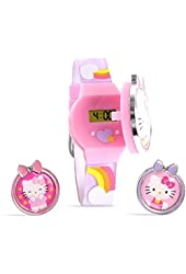 Hello Kitty Digital Watch LCD display with interchangeable tops