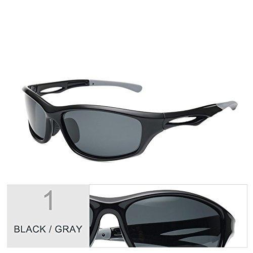 Confortable Polarizadas De De Lentes Sol Gafas Piscina Negro Hombre Black Deporte Conducción Gafas Gray Gris Luz Para TIANLIANG04 Nocturna Deportivos qPxOwvzSSX