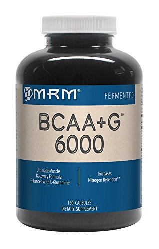 MRM - BCAA+G 6000, Ultimate Muscle Post-Workout Recovery Formula , Supports Muscle Size & Strength, Recovery, Reduces Fatigue & Muscle Soreness (150 Capsules) by MRM