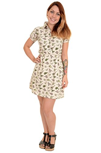 Run & Fly - Robe - Manches Courtes - Femme beige stone