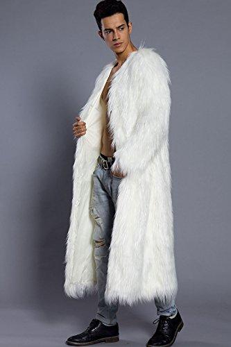 clearance prices wholesale price on feet images of Vlunt Longue Homme Mode Manteau de Fausse Fourrure Caban ...
