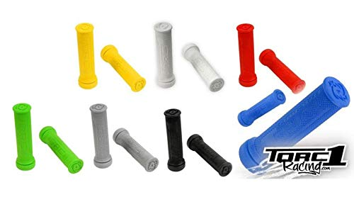 Torc1 Racing 4500-0700 Hot Lap ATV Gray Single Medium Compound Diamond Grip with Grip Glue for MB/WC/BMX Bikes ()