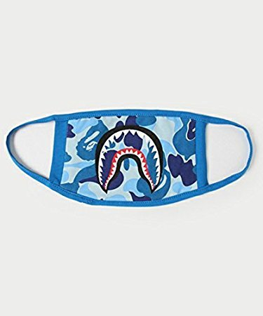 Dasuke Fashion a Bathing ape Bape Shark nero maschera camouflage mouth-muffle Bape cover