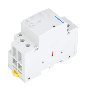 Contattore AC con guida DIN 32A 2 poli 220 V 220V//230V 60HZ 230 V Contattore AC con guida DIN a bobina 1NO1NC 50
