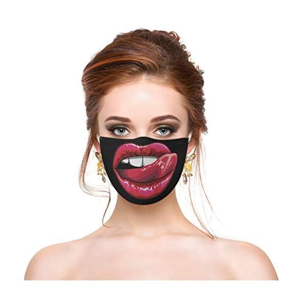 Covermason-2-Stck-Lustiger-Mund-Schutz-Waschbar-Baumwolle-Wiederverwendbar-Mund-und-Nasenschutz-Funny-Face-Covering-Bandana