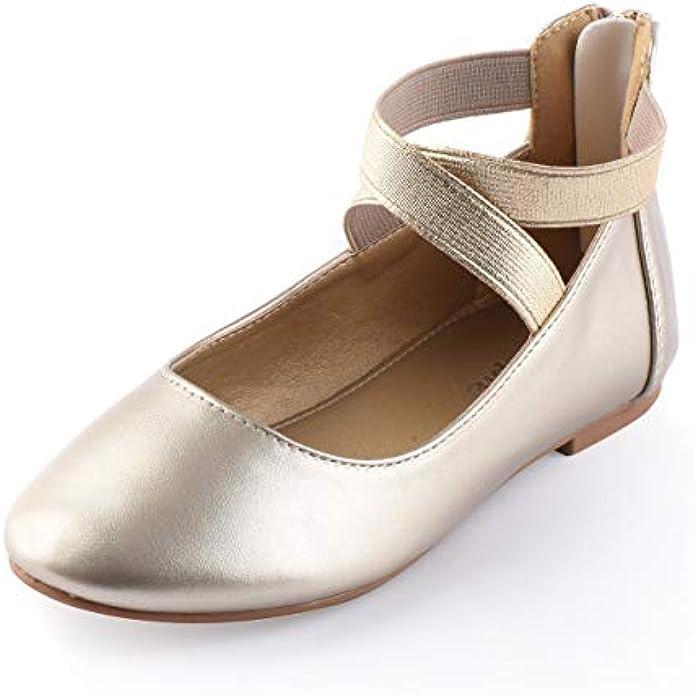 Nova Utopia Toddler Little Girls Dress Ballet Ankle Strap Flat Shoes