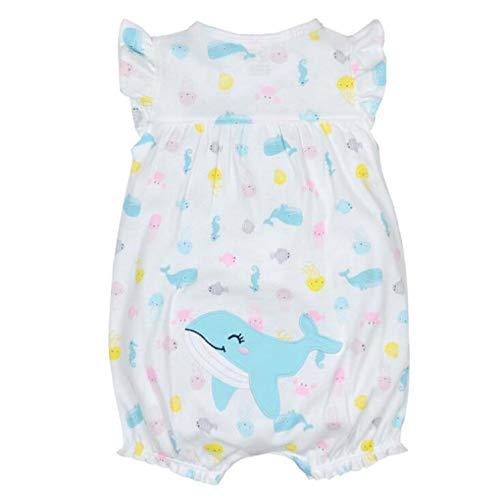 V-A-O-L 1Pc Jumpsuits Cotton Short Romper Infant Girl Clothes,Hmsy,9M ()