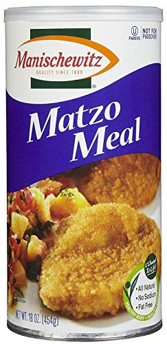 Manischewitz Matzo Meal Daily Canister, (Not Certified Kosher for Passover), 16 oz