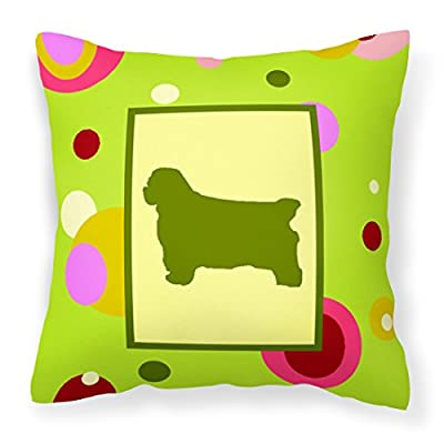 Caroline's Treasures CK1021PW1414 Clumber Spaniel Decorative Canvas Fabric Pillow, 14Hx14W, Multicolor : Garden & Outdoor