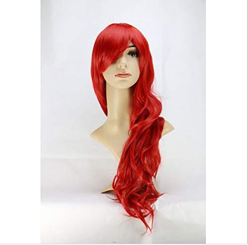 FidgetFidget Little Mermaid Ariel Wig Wavy Cosplay Wig Synthetic Curly Costume Long Red Wigs.