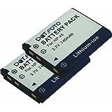 2 x Dot.Foto Qualitätsakku für Fujifilm NP-45,NP-45a,NP-45s - 3,7v / 740mAh - Garantie 2 Jahre [Siehe Beschreibung für die Kompatibilität]