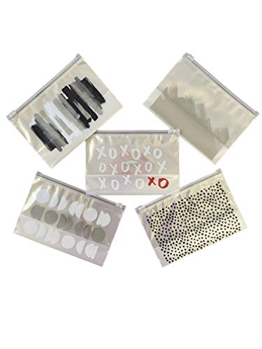 Makeup And Accessory Bags, Contain The Clutter, Use in Gym, Airport, Poolside, Desk, Date Night, Brushes, Lotion (15 Designs Bags) (Chic Collection)