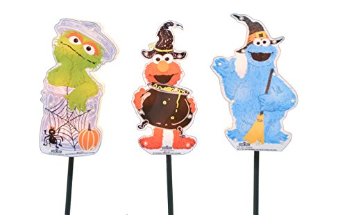 ProductWorks 8-Inch Pre-Lit Sesame Street Halloween Pathway Markers