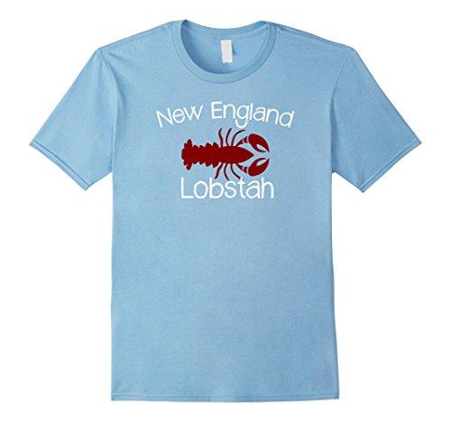 Mens Funny Boston Shirt - Lobster Boston Accent XL Baby Blue