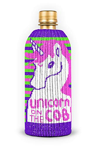 FREAKER Fits Every Bottle Can Beverage Insulator, Stops Bottle Sweat, Unicorn on the Cob Rainbow Corn
