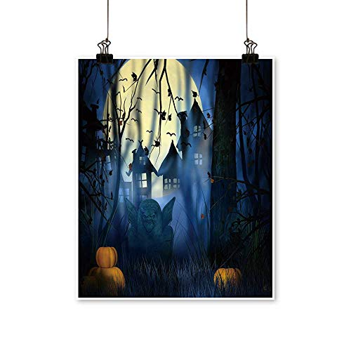 Hanging Painting Scary Night Halloween Backdrop Rich in Color,32