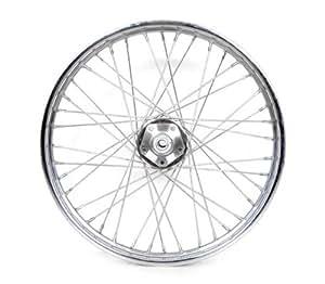 """Amazon.com: 21"""" 40 Spoke Chrome Billet Hub Front Wheel for"""