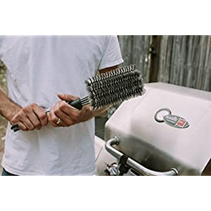 """Best Grill Brush 4-In-1 Head Design 