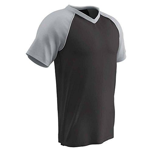 Blackouttees Champro BS35 Mens Bunt Mesh Baseball Jersey Bunt Light Weight Mesh Jersey Black, Silver, White M