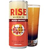 RISE Brewing Co. | Blood Orange Nitro Cold Brew Coffee (12 7 fl. oz. Cans) - Gluten & Dairy Free | Organic, Non-GMO, Vegan Ingredients | Clean Energy, Low Acidity & Slightly Sweet | 45 Calories