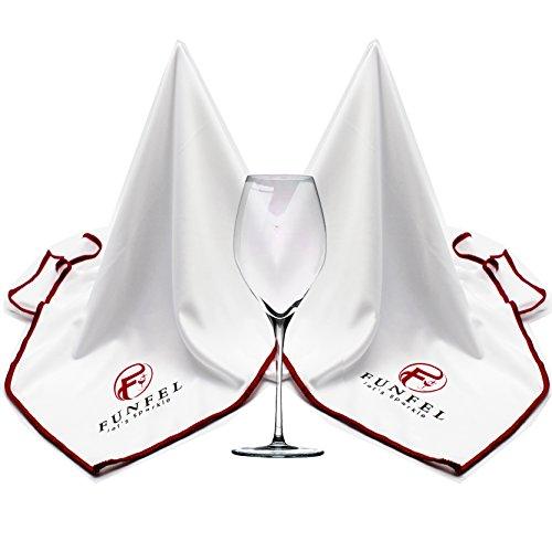 Large Microfiber Glass Polishing Cloth, Lint Streak Free Drying Towel 24x20 inch (2-Pack)