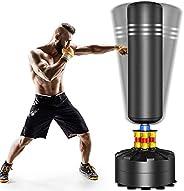 Dprodo Punching Bag Heavy Boxing Bag Freestanding Punching Bag for Adults Kickboxing Bags Kick Punch Bag