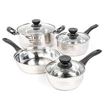 Sunbeam 91339.07 Alvordton 7-Piece Cookware Set, Mirror Polish