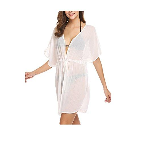 Ohcool Womens Summer Swimsuit Bikini Beach Swimwear Cover up White