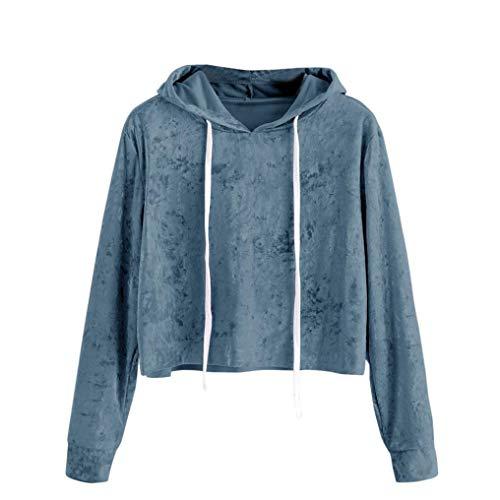 DongDong ♥ Womens Fashion Sweatshirt, Velvet Drawstring Long Sleeve Hooded Pullover