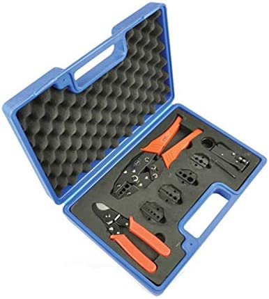 ケーブルカッター 圧着ハンドツールセット ケーブルカッター 交換可能なダイ4個 圧着同軸端子 BNC RGコネクタ用 圧着ペンチ 手動ケーブルカッター