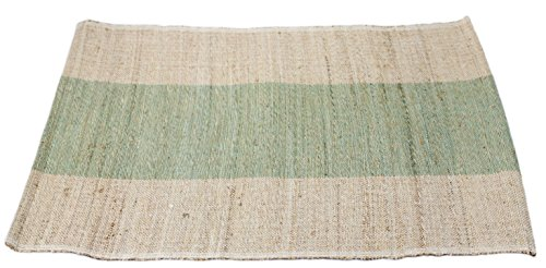 Sobremesa Fair Trade Jute Placemat Set of 4 (Natural/Light Green)