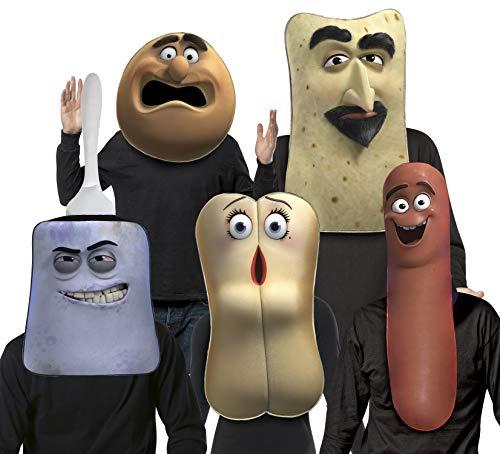 Sausage Party - Masks Set - Frank, Brenda, Lavash, Douche, Bagel
