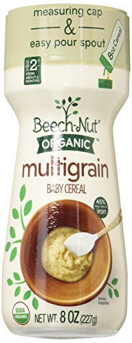 Beech-Nut Organic Multigrain Baby Cereal Canister, 8 Ounce