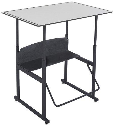 Safco Products AlphaBetter Adjustable-Height Desk, 1208GR, 36