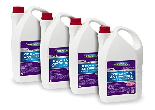 RAVENOL J4D2001-04 Coolant Antifreeze - OTC C12+ Concentrate VW TL 774 F (G12 Plus) (5L, Case of 4) by Ravenol