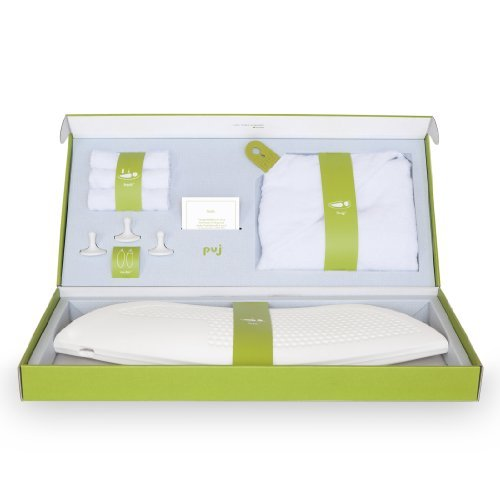 Puj Infant Bath Gift Set, White, Newborn to 6 Months by Puj by Puj