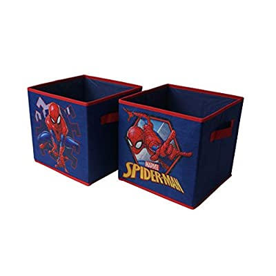 Marvel Spiderman Collapsible Storage Cubes, Blue: Toys & Games