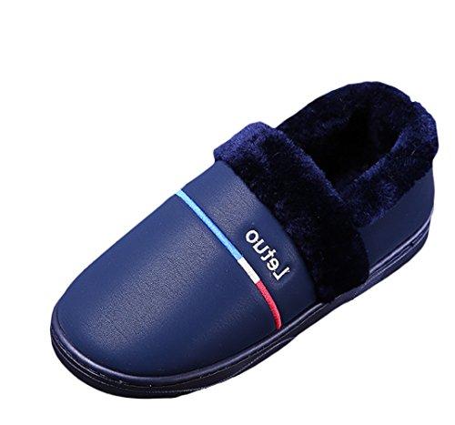 Liveinu Blue Men Winter Shoes A Deep Indoor House Slipper Slippers Women gg7xzwqr