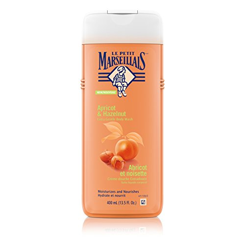 Le Petit Marseillais Extra Gentle Moisturizing Body Wash for Smooth Skin, Apricot and Hazelnut, 400 ml(Pack of - Apricot Gel