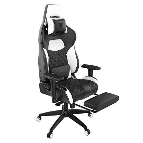 41cwYQTgy1L - Gamdias-Multi-color-RGB-Gaming-Chair-High-Back-With-Footrest-Adjusting-Headrest-and-Lumbar-Support-Black-White-ACHILLES-P1