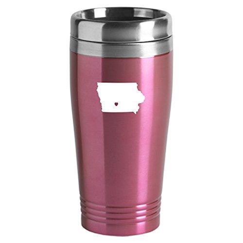 (Iowa-State Outline-Heart-16 oz. Travel Mug)