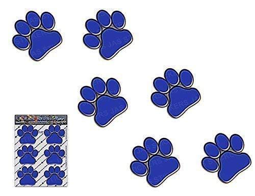 PETITS IMPRIMÉS DE PAW BLEU Animal Chat Chien Pack Autocollants de voiture Stickers - ST00002BL_SML - JAS Stickers