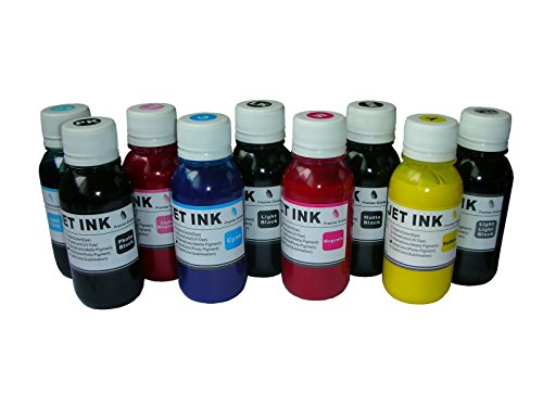 ND R@ 9x100ml Pigment refill Ink for 157 T580 Stylus Photo R2880, R3000 Stylus Pro 3800 3880 4880 T580 T605 K3