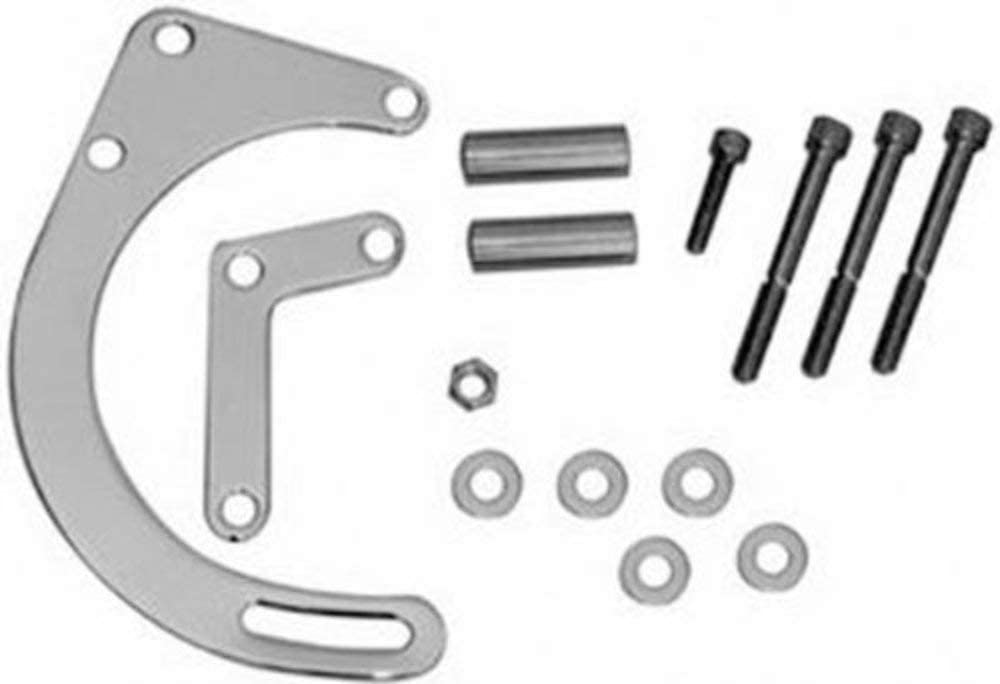 Racing Power Company R7758 Chrome Low Mount Alternator Bracket for Small Block Chevy