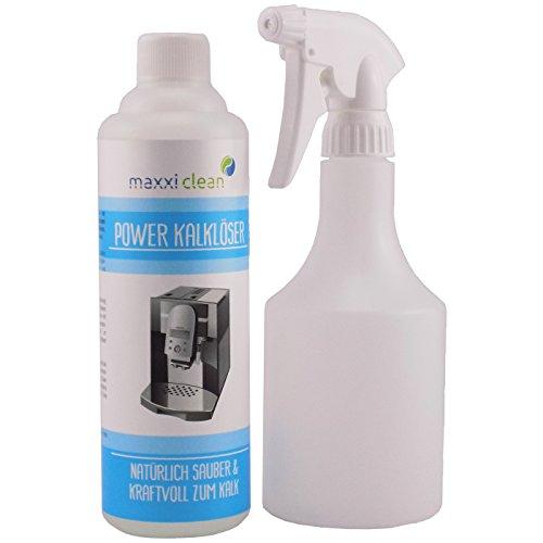 Maxxi Clean Power Kalklöser 500 ml & Kalklöser Sprühflasche | ökologischer Kalk-reiniger gegen Verkalkungen in Kaffeemaschinen, Kaffee-vollautomaten aber auch Bad- und Sanitär-bereiche