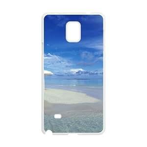 Blue Beach White Phone Case for Samsung Galaxy Note4