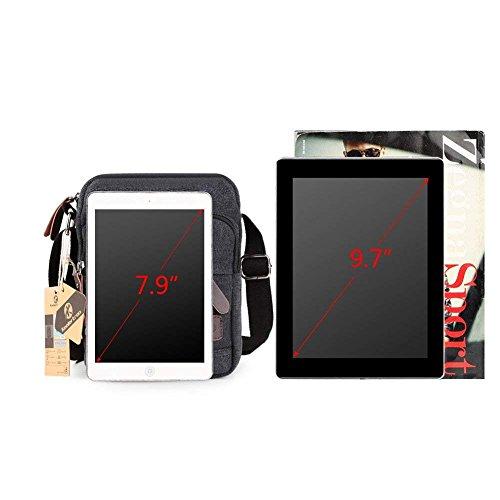 Men's Boy Long Retro For Ipad Yy Phone Mini Strap Zipped Shoulder Classic Lightweight Club Bag Over Canvas Sports Small Fq15wz