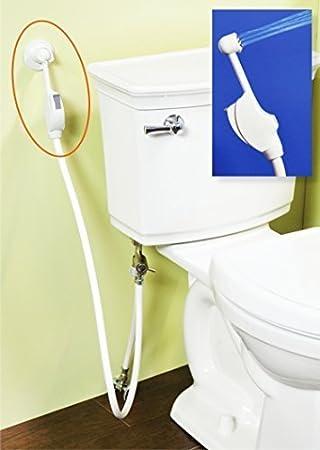 Mrs Bidet White Spray Attachment For Toilet Complete Kit. Mrs Bidet White Spray Attachment For Toilet Complete Kit   Ms
