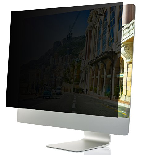 24-Inch Computer Privacy Screen Filter for Desktop Monitors (Diagonally-Measured); Anti-glare Anti-scratch Film; Protects Sensitive Confidential Data (24'' Widescreen (16:9 Aspect Ratio)) by Linnai Products